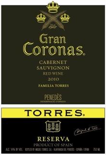 Etiqueta Gran Coronas 2010