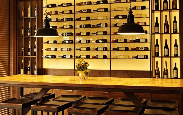 Los vinos caros en el restaurante